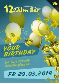 Your Birthday@12er Alm Bar