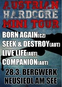LIVE - Born Again  Seek & Destroy  Live Life  Companion @Bergwerk