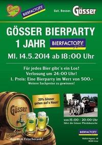 1 Jahres Feier der Bierfactory XXL