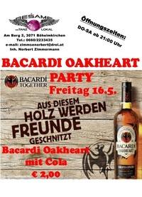 Bacardi Oakheart Party@Beśame Tanzlokal