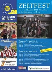 Zeltfest des Amateursportverein Eyrs@Sportzone EYRS (Südtirol)