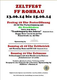 Zeltfest der FF Rohrau@Feuerwehr Rohrau