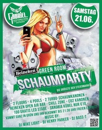 Green Room Schaumparty@Gabriel Entertainment Center