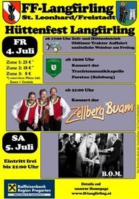 Hüttenfest der FF Langfirling@Langfirling