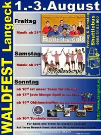 Waldfest Langeck 2014@Sportplatz Langeck