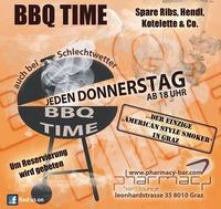 BBQ TIME - jeden Donnerstag auch bei Schlechtwetter