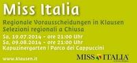19.07.  09.08. Miss Italia Wahlen Klausen - Miss Italia Chiusa@Klausen Barbian Feldthurns Villanders / Chiusa Barbiano Velturno Villandro