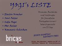 Yogi´s Liste@Bricks - lazy dancebar