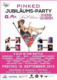 Pinked - Jubiläum - Las Chicas - G-mix - SG@Säulenhalle