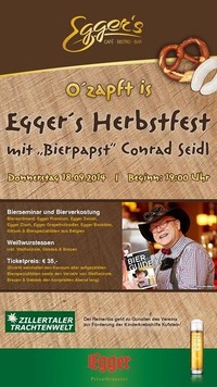 O'zapft is - Eggers Herbstfest mit Bierpapst Conrad Seidl