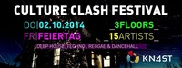 Culture Clash  Festival! 3 Floors/ 15 Dj /Fr. Feiertag