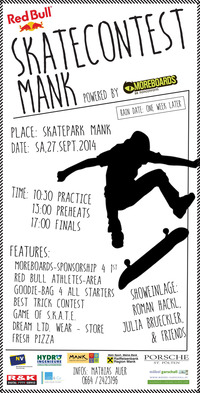 Skatecontest Mank powered by Moreboards@Mank, Niederosterreich