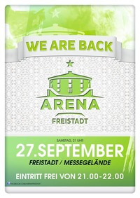 Arena Clubbing Freistadt - We Are Back