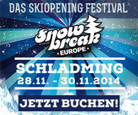 Snow Break Europe 2014 - Das Skiopening Festival