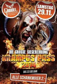 Siegerehrung der Krampus Pass 2014   @Gabriel Entertainment Center