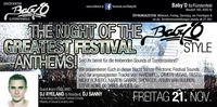 The Night Of The Greatest Festival Anthems@Baby'O