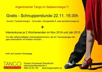 Gratis Schnupperkurs Tango Argentino@Tanzkammergut