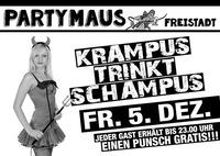 Krampus trinkt Schampus