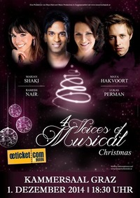 4 Voices of Musical Christmas@Kammersaal Graz