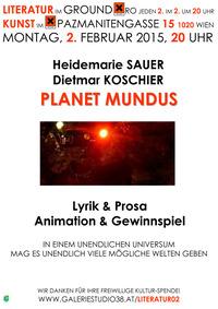 Dietmar Koschier & Heidemarie Sauer PLANET MUNDUS@Xi Cafe & Bar