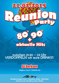 Reunion Party | 80s, 90s + aktuelle Hits