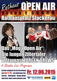Stockerauer Rathaus Openair - Die jungen Zillertaler & Jürgen Drews@Rathausplatz Stockerau
