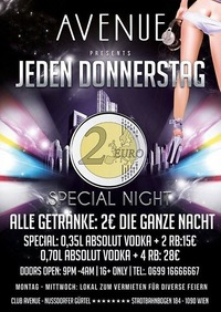 2 Euro Party@Club Avenue