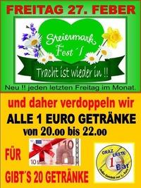 Steiermark Fest´l Feber@1-Euro-Bar