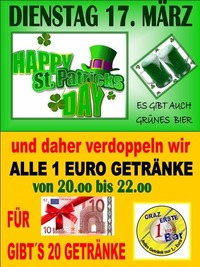 St. Patrick´s Day@1-Euro-Bar