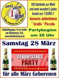 Geburtags Party März