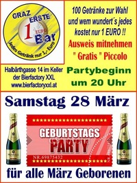 Geburtags Party März@1-Euro-Bar