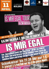 Kazim Akboga - Is Mir Egal Tour - Der DSDS Star Live@Bolero