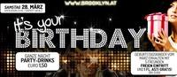 Its your Birthday - Geburtstagskinder März@Brooklyn