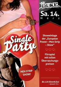 Single Party@Duke - Eventdisco