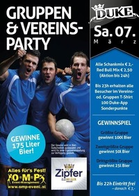 Gruppen u. Vereinsparty