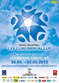 CEV Beachvolleyball Continental Cup Baden 2015