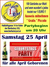 Geburtstags Party April@1-Euro-Bar
