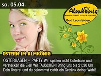 Ostern im Almkönig - Osterhasen - Party