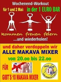 1 und 2 Mai Workout Party@1-Euro-Bar