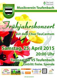 Frühjahrskonzert MV Teufenbach, TeuCantum@Turnsaal der VS Teufenbach