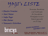 Yogi´s Liste@Bricks - lazy dancebar