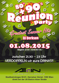 Reunion Party | 80's, 90's + aktuelle Hits der Charts@All iN