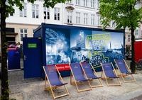 Hamburg on Tour mit dem Karaoke-Container