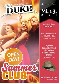 Duke Open Day Summer Club@Duke - Eventdisco