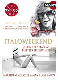 Martini Royale - Lifestyle auf Italienisch zum Pfingst Weekend@Johnnys - The Castle of Emotions