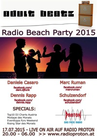 Adult Beatz #67 - Radio Beach Party 2015@Proton - das feie Radio