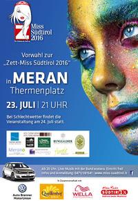 Erste Vorwahl zur Miss Südtirol 2016 in Meran@Therme Meran/Terme Merano
