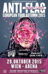 Anti-flag us + Red City Radio us + Trophy Eyes aus + The Homeless Gospel Choir us@Arena Wien