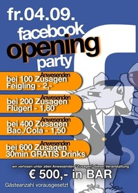 Facebook party opening edition