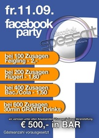 Facebook party@Spessart